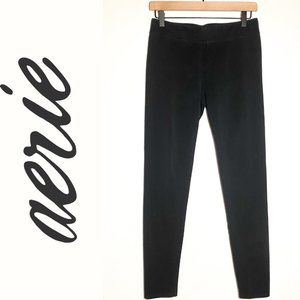 Aerie Cotton Cheer Play Move Black Leggings Large